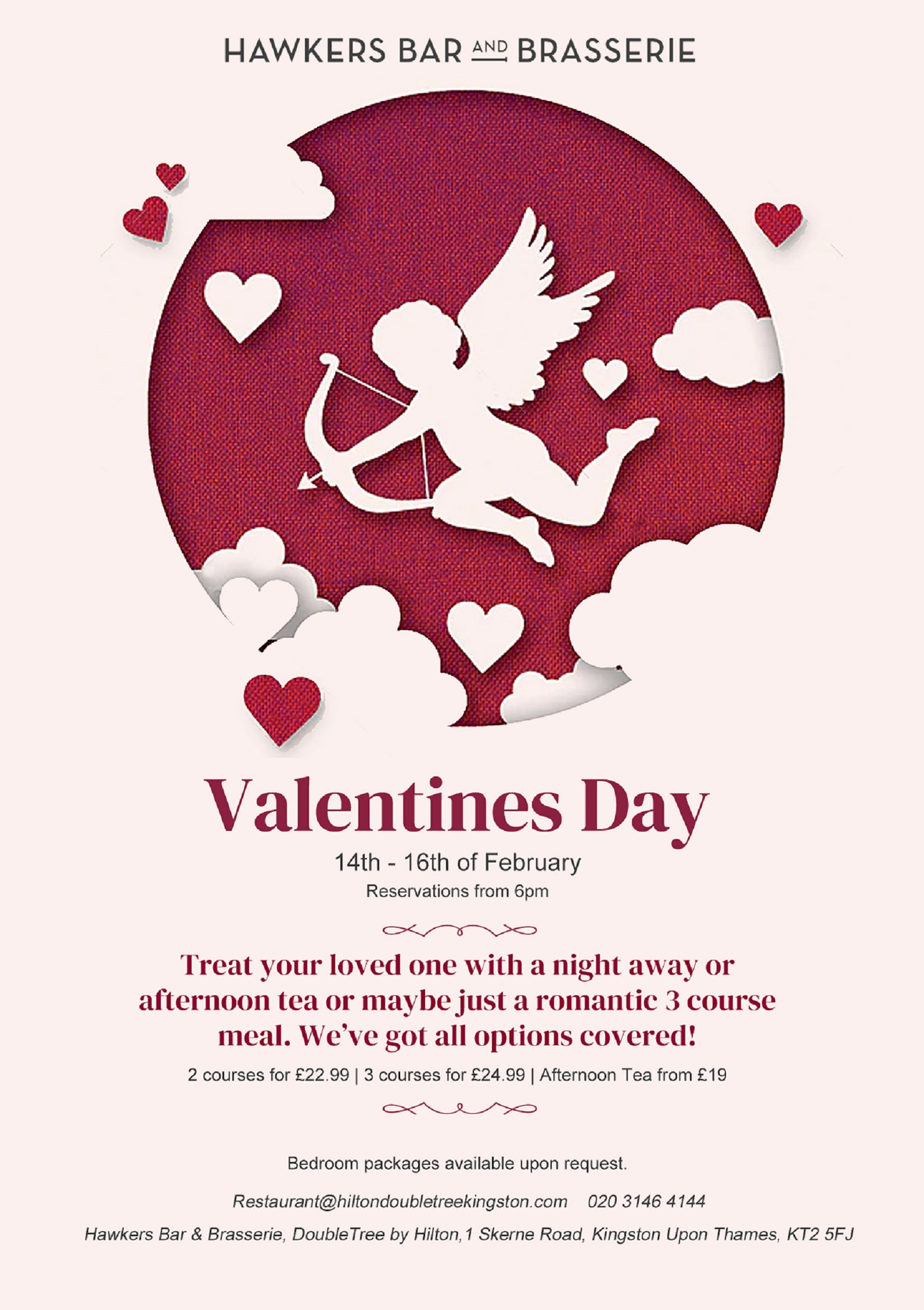 Make the most of the Valentine's Weekend with DoubleTree by Hilton London Kingston-Upon Thames